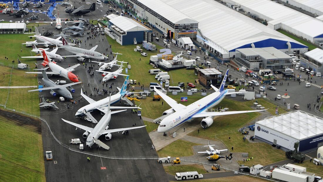 Farnborough Airshow Luftbild 2016.
