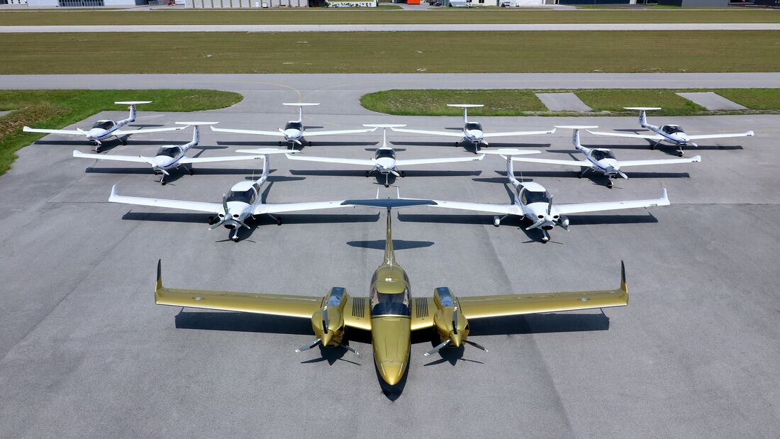 Lineup der Flotte der Aviation Academy Austria