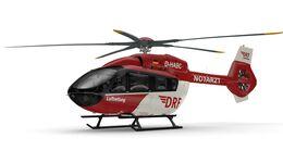 Neuer H145 mit Fünfblattrotor für die DRF Luftrettung.